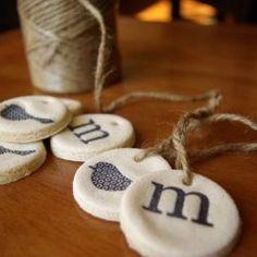 Handmade ornaments and tags for any season.