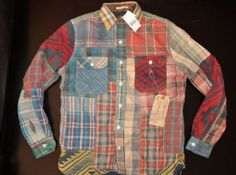 Ralph Lauren RRL Limited Edition Patchwork Plaid Fall Shirt Jacket