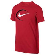 Boys 8-20 Nike Football Tee, Boy's, Size: Small, Dark Pink