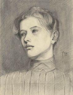 dappledwithshadow: Egon SchielePortrait of a Woman1906