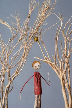 Credit: Edwina Bridgeman The trees are made partly from discarded materials, and contain objects and narratives about the history and folklore of orchards and apple-growing