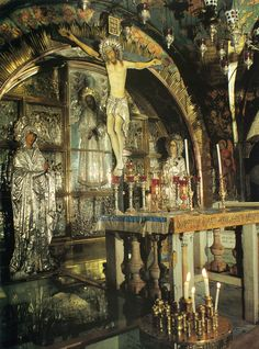 Altar of Calvary; Church of the Holy Sepulchre, Jerusalem