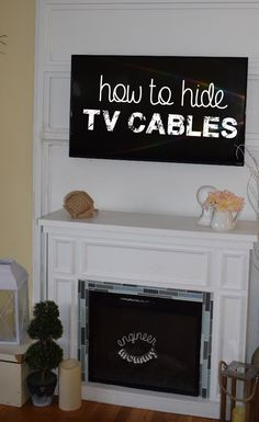 Looking for a solution for hiding those annoying TV cables? Check out this clever, elegant solution that hides all those TV cables.