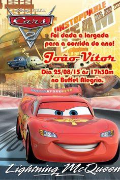 Convite digital personalizado Carros da Disney 008