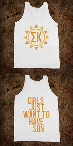 Sigma Kappa Frat Tanks - Sorority Shirts. CLICK HERE to purchase :) Buy 1 or 100!