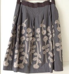 "Beautiful Minâ Perhonen skirt ""Frost Garden"" Mori Girl Fashion, Boho Fashion, Fashion Outfits, Japanese Fashion Designers, Nice Dresses, Summer Dresses, Textiles, Skirt Patterns Sewing, Blouse And Skirt"