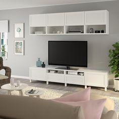 Shop here - IKEA Tv Enmarcada, Tv Storage, Storage Spaces, Record Storage, Besta Tv Bank, Ikea Tv, Tv Bench, Plastic Foil, Bedrooms