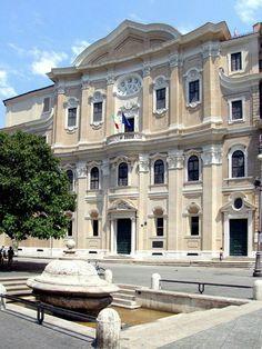 Francesco Borromini. Oratorio dei Filippini. Roma. (1637-1643) Camino (Chimney)
