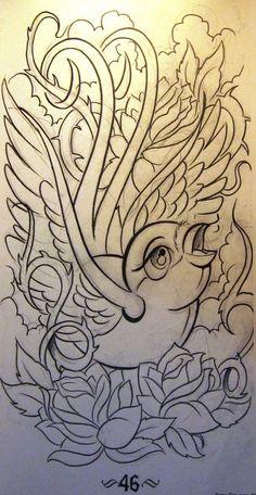 Im 9 Eu Image Hosting Birds Tattoos Tattoo Design Curl Bird Picture Flash Art Tattoos, Body Art Tattoos, Sleeve Tattoos, Tattoo Sketches, Tattoo Drawings, Prison Drawings, Sparrow Art, Beautiful Tattoos For Women, Weed Art