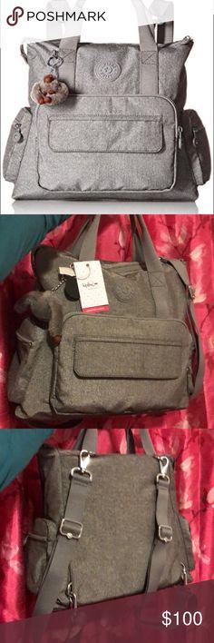 "Kipling Alvy Convertible Backpack Kipling Alvy Convertible Backpack, purchased at Macy's.  13 1/2""W x 12 1/2""H x 6""D (width is measure across bottom of the handbag)   8""L double handles 15""L to 18L removable & adjustable Backpack straps Kipling Bags Backpacks"