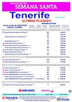 Tenerife, Semana Santa, salida 12 Abril desde Santiago de Compostela ultimo minuto - http://zocotours.com/tenerife-semana-santa-salida-12-abril-desde-santiago-de-compostela-ultimo-minuto-2/