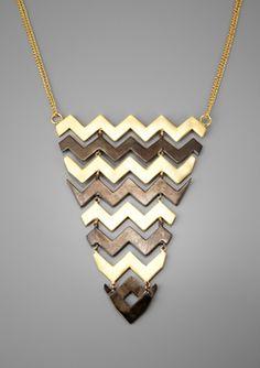 zigzag bib necklace