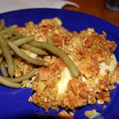 Swiss Chicken Casserole -A tasty spin on the usual chicken and stuffing casserole. Great served with rice or egg noodles Chicken And Dressing Casserole, Chicken Dressing, Chicken Casserole, Casserole Recipes, Skillet Recipes, Cream Of Celery Soup, Cream Of Chicken Soup, Food Dishes, Main Dishes