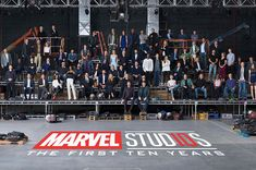 """Marvel Studios brought together 80 of its stars and filmmakers for one picture in honour of its year anniversary.On October the group gathered in secret on the Atlanta set of """"Avengers: Infinity War"""" for the photo to celebrate the last decade. Ms Marvel, Disney Marvel, Marvel Comics, Lego Marvel, Captain Marvel, Marvel News, Marvel Actors, Mundo Marvel, Marvel Heroes"""