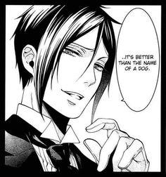 Sebastian Michealis is butt hurt about his name... Kuroshitsuji / Black Butler