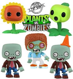 Bonecos de Vinil do Game Plants vs. Zombies (Funko Pop!)