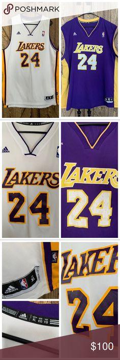 91f3cfdcf5b 2 LA Lakers Kobe Bryant Adidas Jerseys Men s XL I m selling 2 NBA Los