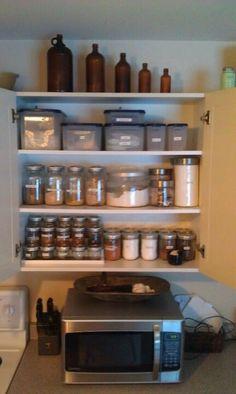 Super organized with mason jar