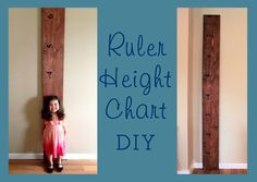 Easy DIY Pottery Barn Style Height Chart decal to save you some work! from tradingphrases.com
