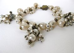 Bumbershoot Designs and Supplies: Vintage Miriam Haskell Vintage Pearl Bracelet: A Wish Comes True