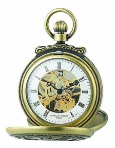 CharlesHubert Paris 3868G Classic Antique GoldPlated Case Mechanical Pocket Watch *** Check this out by going to the link at the image.