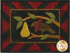 Bertie's Year Laser-Cut Kit - August: Bertie's Year is a wonderful flannel applique series by Bonnie Sullivan. This design is the August project, which finishes to 13