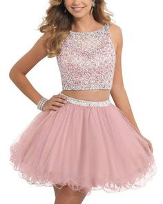 online shopping for ALW Short Beaded Homecoming Dress Two Pieces Mini Tulle Prom Gown from top store. See new offer for ALW Short Beaded Homecoming Dress Two Pieces Mini Tulle Prom Gown Two Piece Homecoming Dress, Prom Dresses Two Piece, Cheap Homecoming Dresses, Prom Dresses 2016, Cute Prom Dresses, Tulle Prom Dress, Cheap Dresses, Pretty Dresses, Party Dress