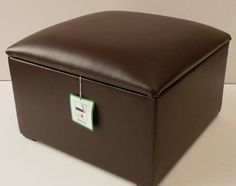 FAUX LEATHER STORAGE BOX WITH HINGED LID. FULLY LINED AND EASY TO USE STORAGE BOX WITH LIFT UP LID. THESE CAN BE MADE IN LOTS OF COLOURS AND FABRICS. DEPTH (32cm). WIDTH (41cm). HEIGHT (26cm). | eBay!