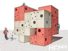 Building Playhouses: Help out Habitat for Humanity and help kids get back to play. Check out these amazing playground designs! Water Playground, Playground Design, Outdoor Playground, Children Playground, Playground Ideas, Play Houses, Tree Houses, Diy For Kids, Help Kids