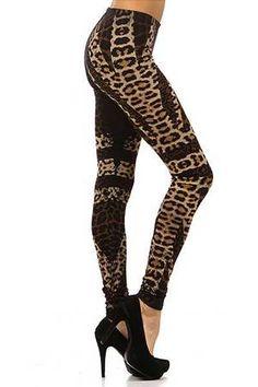 Sheer Spotted Leopard Leggings - Plus Size   Plus size, Leopard ...