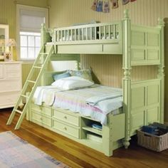 I could see this a king over king bunk. Love the wood panels and end caps.