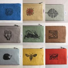 Here are my best block printed zipper pouches from Artist links below. (Shop link in bio)… I've made my own Best collections. Here are my best block printed zipper pouches from Artist links below. (Shop link in bio)… Stamp Printing, Printing On Fabric, Screen Printing, Handmade Stamps, Handmade Art, Textile Prints, Textile Art, Stamp Carving, Fabric Stamping
