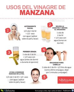 Vinagre de manzana - Care - Skin care , beauty ideas and skin care tips Natural Beauty Tips, Health And Beauty Tips, Healthy Beauty, Healthy Tips, Beauty Care, Diy Beauty, Beauty Skin, Face Beauty, Beauty Ideas