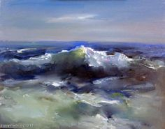 """Avdeev Alexander """"Wave"""" - oil, canvas Texture Art, Texture Painting, Painting & Drawing, Landscape Art, Landscape Paintings, Waves, Seascape Paintings, Painting Inspiration, Sea And Ocean"""