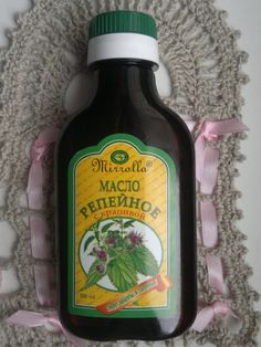 Burdock oil with nettle extract, 100 ml. Scalp care, Strengthen hair, Promotes hair growth, Nourishes the scalp and eliminates itching