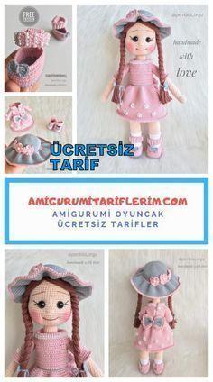 Amigurumi Zühre Baby Made – My Amigurumi Recipes - Crochet Crochet Doll Pattern, Crochet Dolls, Amigurumi Tutorial, Crochet Mittens, Pink Wallpaper Iphone, Bunny Toys, Baby Makes, Crochet Crafts, Crochet Ideas