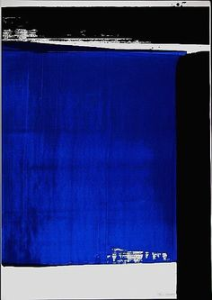 Pierre Soulages ┃ Composition in Blue, ca. Action Painting, Art Bleu, Contemporary Abstract Art, Blue Art, French Artists, Oeuvre D'art, Street Art, Art Gallery, Illustration Art