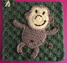 """Join """"Funkey Monkey"""" dancing - Robin M. To learn more about our organization go to www.knit-a-square.com  To meet our members and see more of our knitting and crochet go to http://forum.knit-a-square.com/"""