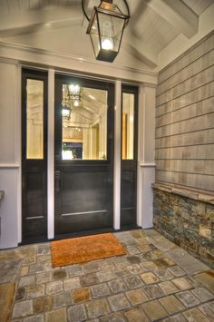 Front Door With Side Lights Design, Pictures, Remodel, Decor and Ideas - page 2 Front Doors With Windows, Double Front Doors, Glass Front Door, Front Entry, Front Porch, Double Door Design, Front Door Design, Exterior Doors, Entry Doors