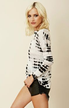 Generation Love Curved Jacquard Long Sleeve Sweater