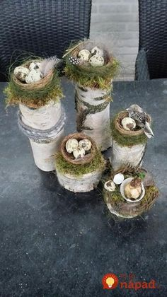 Easter birch trunk with bird nest Fayette . - Easter birch trunk with bird& nest – Fayette Weber – - Easter Table, Easter Eggs, Fleurs Diy, Deco Floral, Holiday Traditions, Easter Wreaths, Spring Crafts, Easter Crafts, Easter Ideas