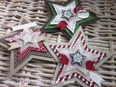 stampin up weihnachten christams sternenkarte star festlich geschmückt trim the tree zauber der weihnacht aus dem häuschen bunte blätter und flockentanz glückssterne