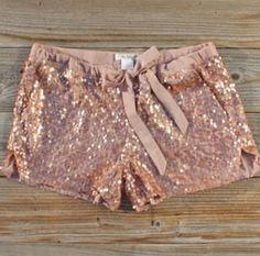 Glitter shorts