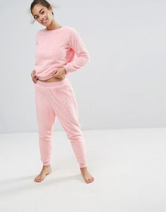c99c59e07e2e ASOS PETITE LOUNGE Sweat   Jogger Set at asos.com