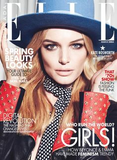 Kate Bosworth by Max Abadian for ELLE Canada, March 2015