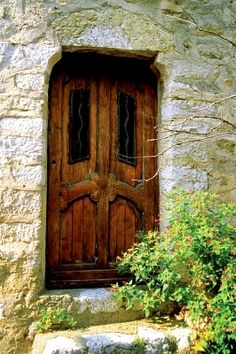 Wooden door of a house, Eze, French Riviera, France Cool Doors, Unique Doors, Doors And Floors, Windows And Doors, Door Letters, Entry Foyer, Entry Doors, French Countryside, Entrance Gates