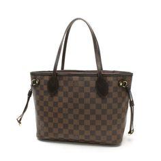 Louis Vuitton Neverfull PM Damier Ebene Shoulder bags Brown Canvas N51109