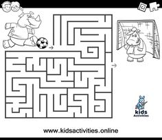 Free printable maze coloring pages for kids ⋆ Kids Activities Bear Coloring Pages, Coloring Pages To Print, Printable Coloring Pages, Coloring Pages For Kids, Coloring Books, Mazes For Kids Printable, Puzzles For Kids, Free Printables, Maze Worksheet