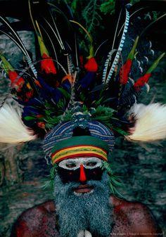 Tribesman in War Paint, Papua New Guinea