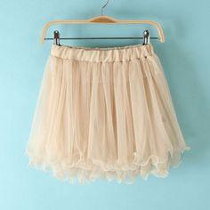 #SheInside Pink Elastic Waist Lace Flare Skirt